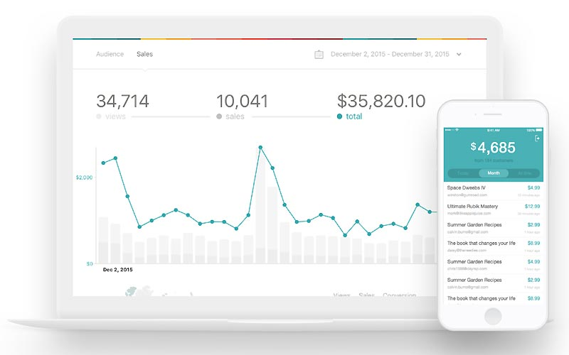 Gumroad Onlineshop Plattform (Bild: Gumroad)