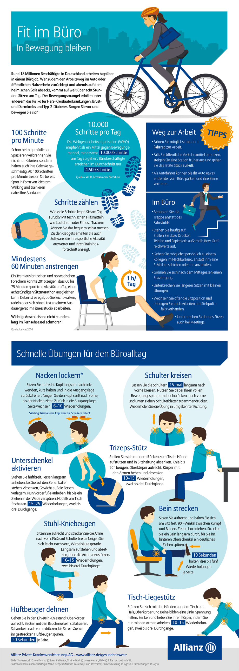 Infografik Büro Fitness (Bild: Allianz)