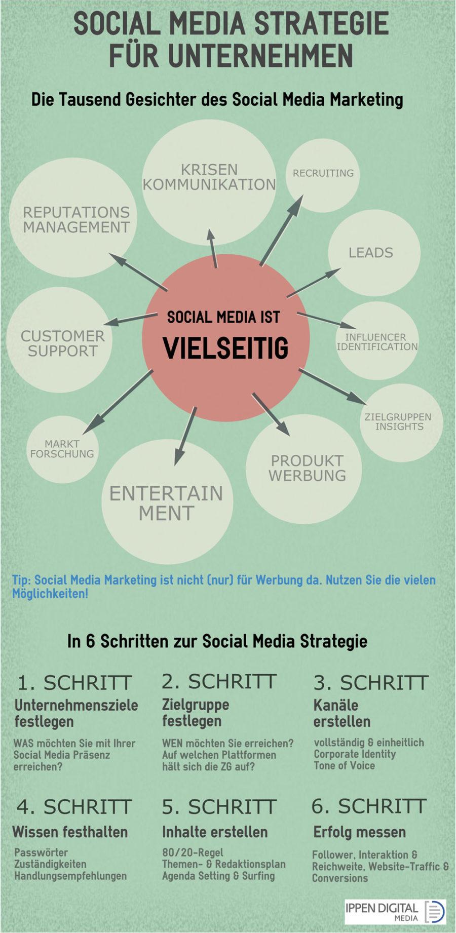 Infografik Social Media Strategie (Bild: Ippen Media)