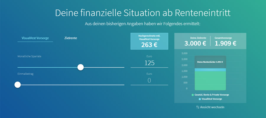 Rentenlücke-Rechner (Bild: Visualvest)